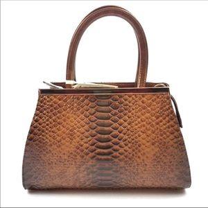 NWT Vegan and Lead-Free Brown ISABELLE Handbag